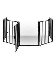 Säkerhetsgaller med dörr